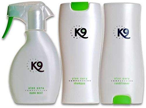 K9 Competition SPARSET - 1x 300ml K9 Competition Aloe Vera Hundeshampoo + 1x 300ml K9 Competition Aloe Vera Conditioner + 1x 250ml K9 Competition Aloe Vera Nano Mist