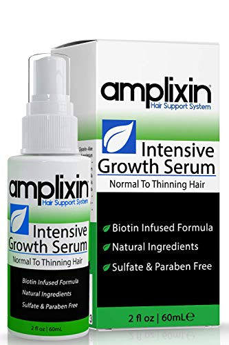 Amplixin Intensive Biotin Hair Growth Serum - Hair Loss Prevention Treatment For Men & Women With...