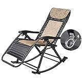 HYYK Sillas mecedoras para Adultos Silla de Gravedad Cero Jardín Patio al Aire Libre Tumbonas Sillas Plegables reclinables para la Playa Camping Piscina Máx. 250 kg