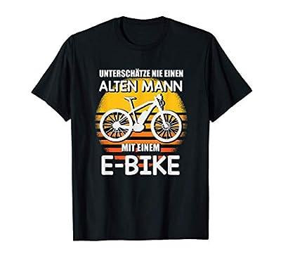 Herren Alter Mann Mit E Bike Witzig E-Bike Geschenk T-Shirt