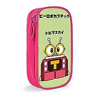 ペンふくろ ビーロボカブタックトビマスカイtubimasky ペンケース 化粧ポーチ 多機能ペン袋 Pencil Case Pink