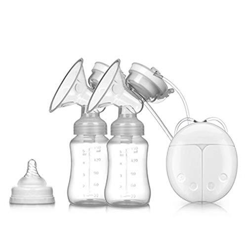 Big Bargain Store 2 modes réglables et 4 niveaux d'aspiration pour l'allaitement maternel adapté à l'allaitement maternel Tire-lait électrique white