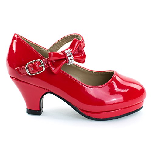 Forever Link Girl's Mary Jane Pump Red, 12 Little Kid