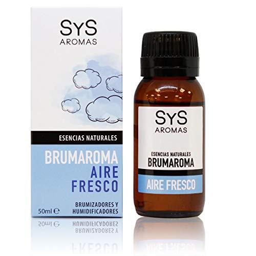 S&S Cosmética Natural Esencia para Brumizador Aire Fresco 50 ML. Aceites Esenciales Naturales 100%, Aromaterapia para Humidificador y Difusor Aroma, SPA, Masajes, Relajarse.