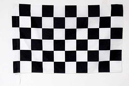 AZ FLAG Flagge Motorsport SCHACHBRETTMUSTER 90x60cm - Formel 1 Fahne 60 x 90 cm Scheide für Mast - flaggen Top Qualität