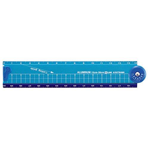 クツワ HiLiNE 折り畳みアルミ定規 XS31BL ブルー