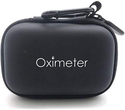 パルスオキシメーター専用 ケース収納袋ポーチ 持ち運び 携帯 保管 保護 キャリングケース(黒)