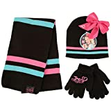 Nickelodeon Winter Hat, Scarf, Gloves or Toddlers Mittens, JoJo Baby Beanie for Boy Girl, Black, Kids, Ages 4-7