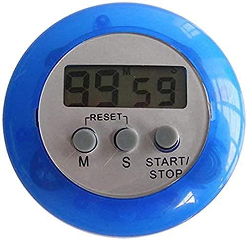 Reloj de cocina redondo LCD digital de pantalla grande con cuenta atrás magnética temporizador de cocina contador despertador reloj de cocina gadget azul