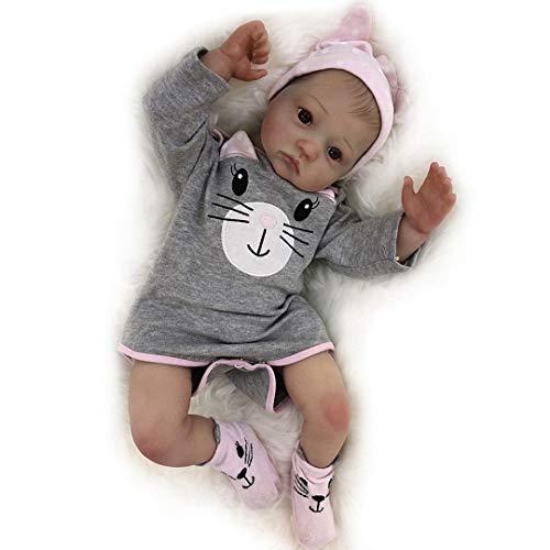 Adolly - Muñeca de bebé reborn realista de 50,8 cm para recién nacido, silicona suave y pesada, muñecas de bebé realistas con ropa
