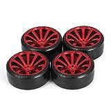 Neumáticos de coche Drift, 4 piezas 1/10 Rc Drift, llanta de rueda de coche, llanta de rueda dura para Traxxas Hsp Tamiya Hpi Kyosho, pieza de vehículo...