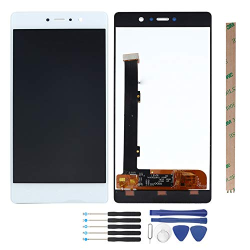YHX-US Screen Replacement Suitable for BLU Vivo 5R V0090EE V0090UU LCD Display LCD Screen Touch Panel Digitizer Assembly with Tools (White)