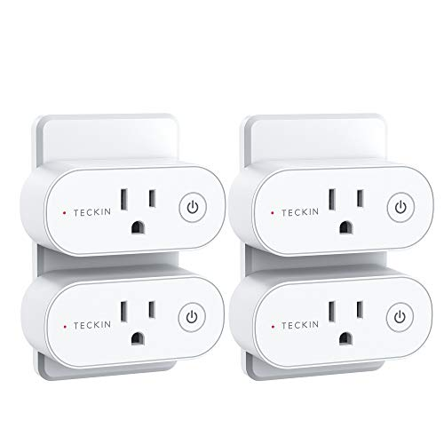 Smart Plugs That Work with Alexa, TECKIN 15A Alexa Smart Plugs with Remote Control, Schedule and Timer Function, FCC ETL Certification, No hub Require, 4 Pack
