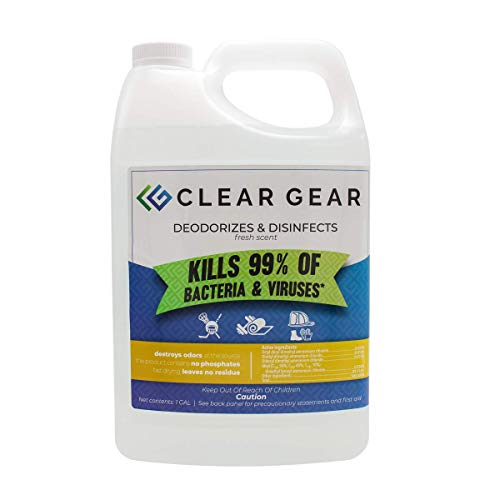 Clear Gear Disinfecting Spray 1 Gallon Bottle - Kills Odors and Leaves...