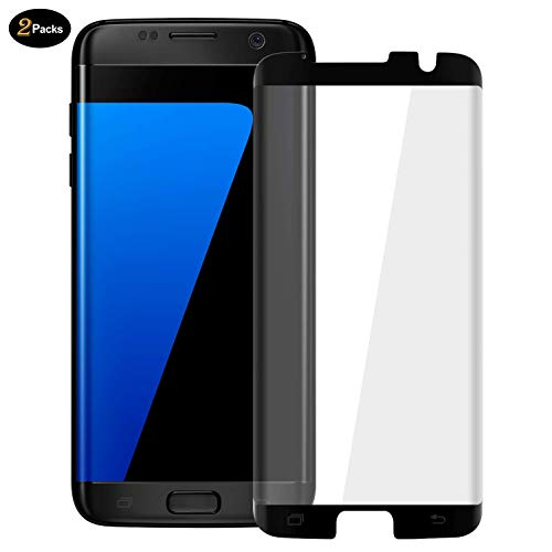 2 Pack HD Galaxy S7 Edge Screen Protector,Tempered Glass for Samsung Galaxy S7 Edge [3D Full Edge Covered] [9H Hardness] [Anti-Dirty] Case Friendly Glass Protector for Samsung Galaxy S7 Edge