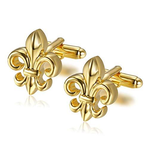 BOBIJOO Jewelry - Paire Boutons de Manchette Fleur...