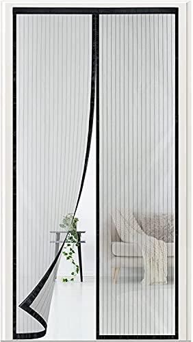 Magnet Fliegengitter Tür Insektenschutz Magnetvorhang Magnetischer Fliegenvorhang Balkontür 90 x 210cm für Kellertür Schiebetür Balkontür und Terrassentür Ohne Bohren