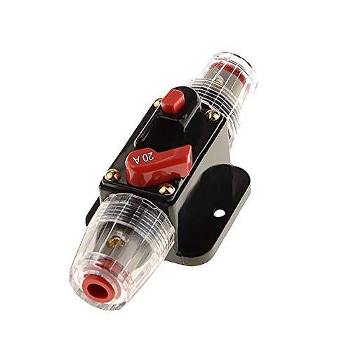 Mintice 12V 20A Motore dell'automobile Interruttore Automatico in Linea portafusibili Protezione Stereo ripristina Il Fusibile