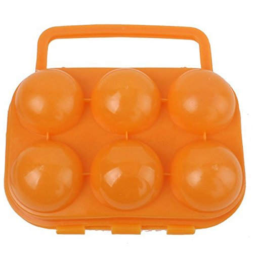 SODIAL(R) Box Egg Portable Porte-Oeufs/Boite a Oeufs en Plastique pour Camping et Pique-Nique (Couleur Aleatoire)