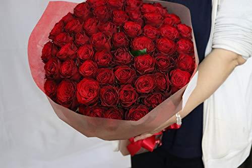 本数をお選びください 赤いバラの花束 10本〜100本 最高級のトップローズを使用 薔薇 エーデルワイス 花工房 (80)