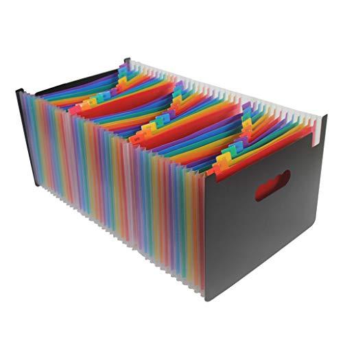 Organizador de pasta de arquivo expansível A4 da Fityle, 12 24 37 48 bolsos, Multicor, 13 Pockets