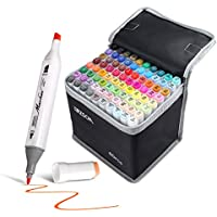 80-Count Zscm Dual Tips Alcohol Art Markers Set