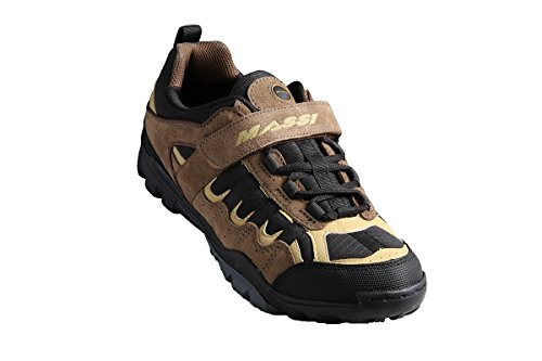 Massi Canyon - Zapatillas de ciclismo MTB unisex, color negro, talla 44