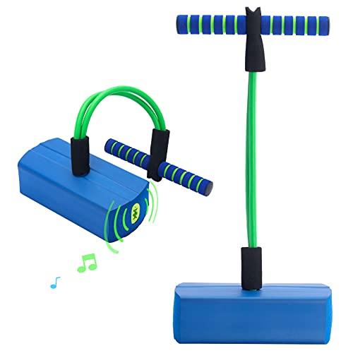Gimsan Pogo Stick para niños, Bungee Jumper, suéter de Espuma pogo para niños, niñas, niños, Juguetes para niños / Regalos para niños. (hasta 110 kg) Edad 3+, Azul