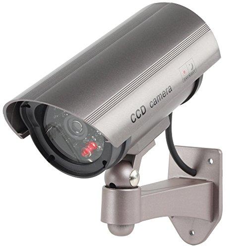 10 STÜCK König Profi Kamera Dummy mit Blinkender LED blinkende LED - Tolle Überwachungskamera Attrappe CCTV IP44 Aussenbereich Kameraatrappe Innen Außen Fake Überwachung Haus Sicherheit Security