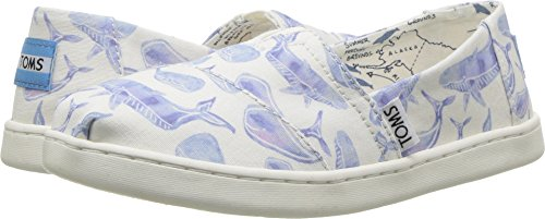 TOMS Classics Oceana Multi Watercolor Whale Canvas 10011567 Tiny Size 3