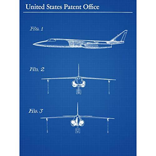 Holthy Hudson Boeing Vliegtuig vliegtuig 1956 Patent ingelijst kunst afdrukken 18X24 In