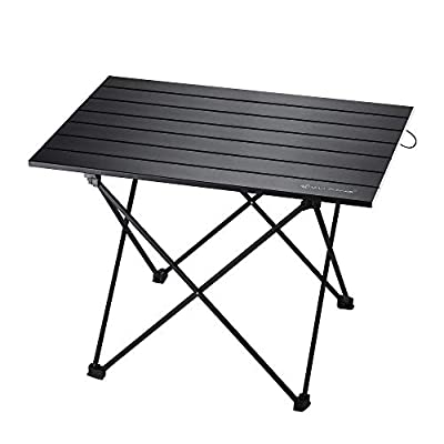 WF WU FANG Camping Table Compact Collapsible Folding Portable Aluminum Beach Table with Carry Bag for Outdoor Picnic, Hiking, Fishing, Travel and BBQ