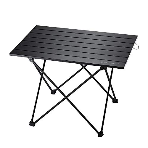 WF WU FANG Camping Table Compact Collapsible Folding Portable Aluminum Beach Table with Carry Bag for Outdoor Picnic Hiking Fishing Travel and BBQ