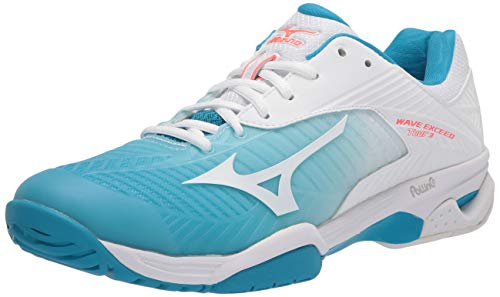 Mizuno Women's Wave Exceed Tour 3 All Court Tennis Shoe, White, 8