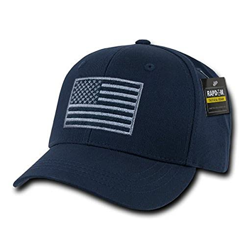 RAPDOM Tactical USA Embroidered Operator Cap, Navy