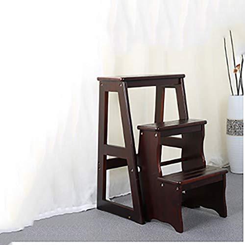 ZfgG Échelle d'intérieur de Pliage Simple de Tabouret d'étape en Bois Plein de ménage Simple de ménage, Tabouret d'escalier Mobile Multifonctionnel de Tabouret (Color : #2)