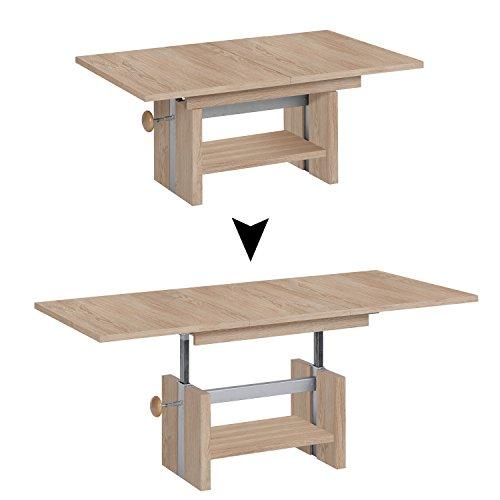 FMD Moebel Gmbh Arryn S03 Tavolino Sollevabile, 110 x 70 x 40 H Cm, Rovere, Nobilitato