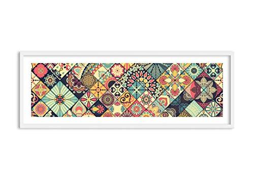 Imagen en un Marco de Madera de Color Blanco - Imagen en un Marco - Cuadro sobre Lienzo - Impresión en Lienzo - 140x50cm - Foto número 3815 - Listo para Colgar - en un Marco - F1WAB140x50-3815