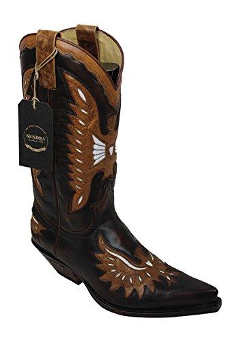 Sendra Cowboystiefel 6990 in braun incl. Roy Dunn´s Lederfett (40)