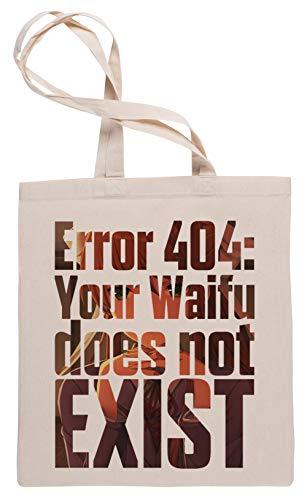 Wigoro Error 404 - Doki Doki Literature Club Monika Sac à Provisions Tote Beige Shopping Bag