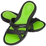 Aqua Speed - Set - Panama Zapatillas de baño + Toalla de Microfibra | Mujeres | Sandalias de Ducha | Zapatillas de Playa, Color:Panama Damen - 38, Tamaño:38