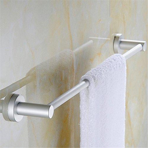 MBYW moderne minimalistische hoge dragende handdoek rek badkamer handdoekenrek Opslag plank Space aluminium handdoek bar enkele paal opknoping staaf handdoek rek verlenging (E605)