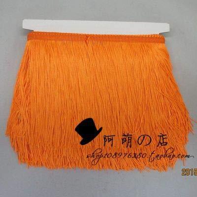 Astonish 10 Yard/Lot 15 cm lang Polyester Troddel-Franse-Spitze-Ordnungs-Band NäHen Latin Kleid Bühne Garment Vorhang DIY Zubehör: 2 Orange Gelb
