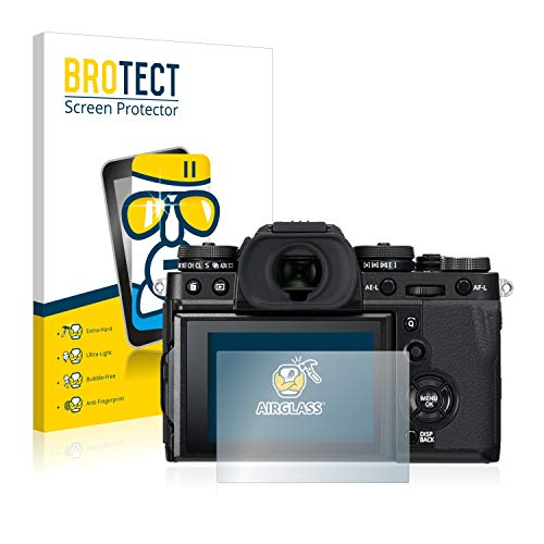 BROTECT Panzerglas Schutzfolie kompatibel mit Fujifilm X-T3-9H Extrem Kratzfest, Anti-Fingerprint, Ultra-Transparent