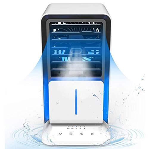 AAADRESSES Aire Acondicionado Enfriador Aire Mini Ventilador, Aire Ccondicionado Portátil, Ventilador Niebla Fría Escritorio 24 V, para Refrigeración Aire Hogar,Blanco
