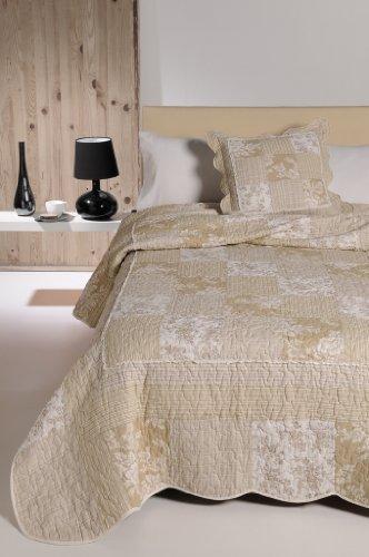 atenas home textile Colcha Algodon 100% Patchwork - Monaco - 180X270 - para Cama 90cm