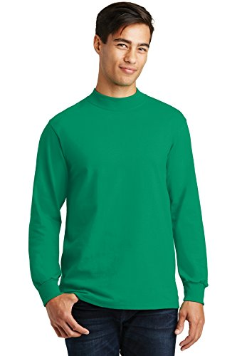 Port & Company Mock Turtleneck, Kelly, Large
