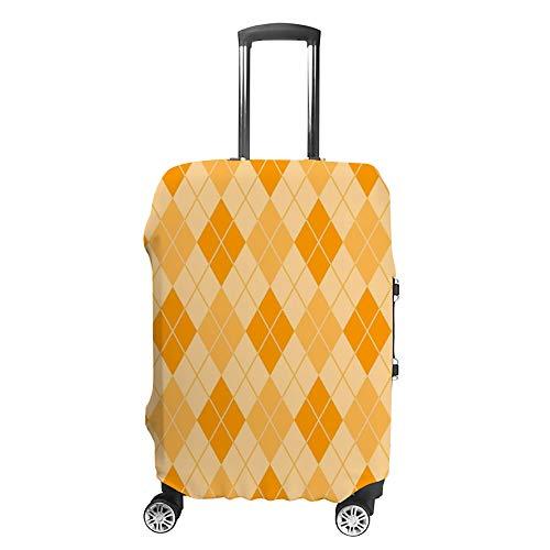 Ruchen - Funda para Maleta, diseño de Rombos, Color Naranja y Amarillo