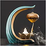 Qohg Holder Incenso Supporto Incenso Lotus Stick Burner Incenso Aromaterapia Ornamento Decorazioni per la casa Bruciatore di incenso Lotus Burner foglia-incenso Ash Catcher Ornaments