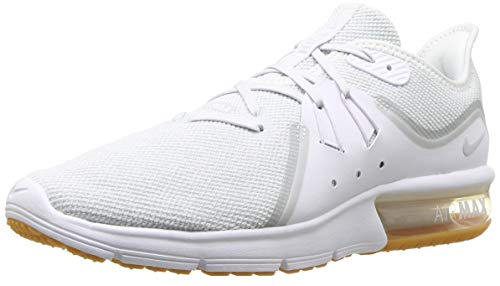 Nike Men's Air Max Sequent 3 Running Shoe White/Pure Platinum Size 8 US